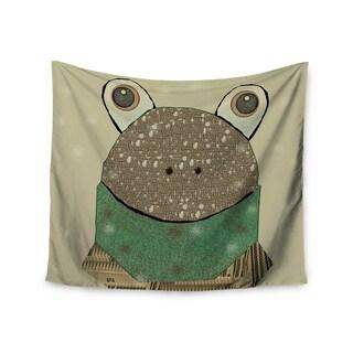 """Kess InHouse Bri Buckley """"Frog"""" Tan Green Wall Tapestry 51'' x 60''"""