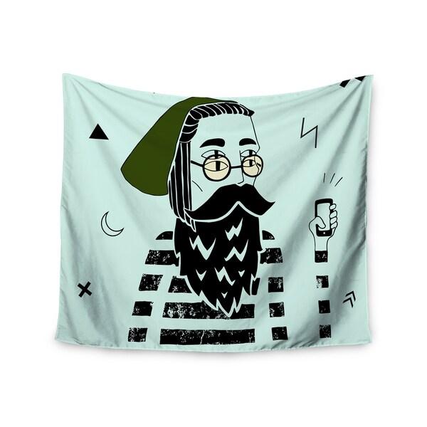"Kess InHouse Anya Volk ""Dreamer2"" Gren Digital Wall Tapestry 51'' x 60''"