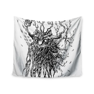 "Kess InHouse Anya Volk ""Forest Spirit"" Black Nature Wall Tapestry 51'' x 60''"