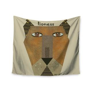 """Kess InHouse Bri Buckley """"Lioness"""" Tan Yellow Wall Tapestry 51'' x 60''"""