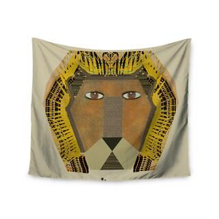 "Kess InHouse Bri Buckley ""Lion"" Yellow Orange Wall Tapestry 51'' x 60''"