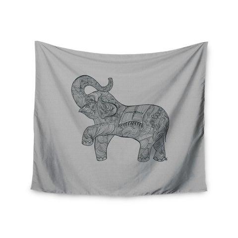 "Kess InHouse Belinda Gillies ""Elephant"" Wall Tapestry 51'' x 60''"