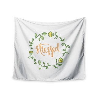 "Kess InHouse Busy Bree ""Stressed Out "" Green Floral Wall Tapestry 51'' x 60''"