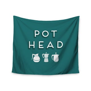 "Kess InHouse Busy Bree ""Pot Head"" Teal Digital Wall Tapestry 51'' x 60''"
