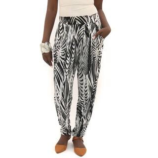 Hadari Women's Black and White Lounge Pants