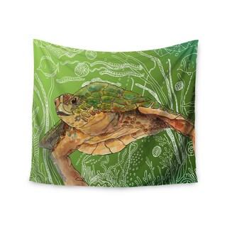 Kess InHouse Catherine Holcombe 'Shelley Green Sea' 51x60-inch Wall Tapestry