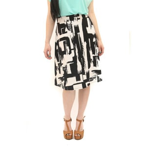 Hadari Women's Retro Black White Circle Skirt