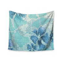 Kess InHouse Catherine Holcombe 'Flower Power Blue' 51x60-inch Wall Tapestry
