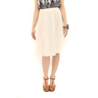 Hadari Women's Ivory Circle Skirt