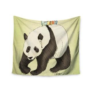 Kess InHouse Carina Povarchik 'Happy Panda' 51x60-inch Wall Tapestry
