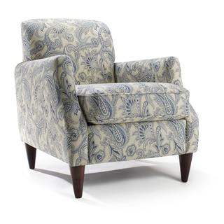 Homeware Astor Blue/Cream Polyester Accent Chair