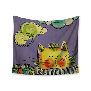 Kess InHouse Carina Povarchik 'Urban Cat With Scarf' 51x60-inch Wall Tapestry
