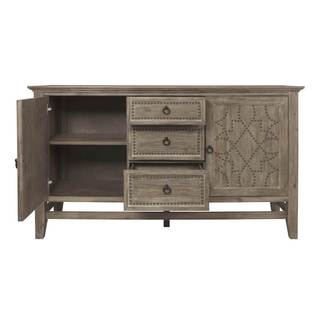 Gray Manor Hannah Grey Wood/Acacia/MDF Sideboard