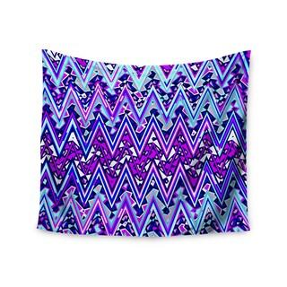 Kess InHouse Nika Martinez 'Blue Electric Chevron' 51x60-inch Wall Tapestry