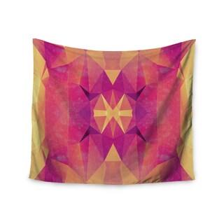 Kess InHouse Nika Martinez 'Retro Pink Geometrie' 51x60-inch Wall Tapestry