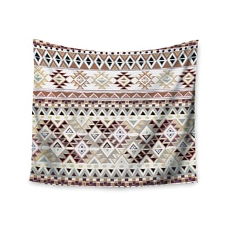 Kess InHouse Nika Martinez 'Tribal Native in Pastel Brown' 51x60-inch Wall Tapestry