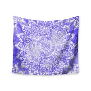 Kess InHouse Nika Martinez 'Boho Flower Mandala in Purple' Lavender51x60-inch Wall Tapestry