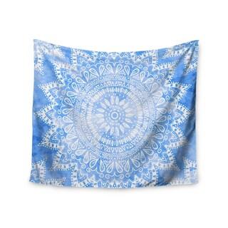 Kess InHouse Nika Martinez 'Boho Flower Mandala in Blue' Aqua51x60-inch Wall Tapestry