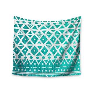 Kess InHouse Nika Martinez 'Aquamarine Tribal' 51x60-inch Wall Tapestry