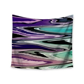 Kess InHouse Nika Martinez 'Colorful Beach Waves' 51x60-inch Wall Tapestry