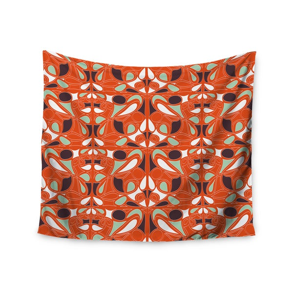 Kess InHouse Miranda Mol 'Orange Swirl Kiss' 51x60-inch Wall Tapestry