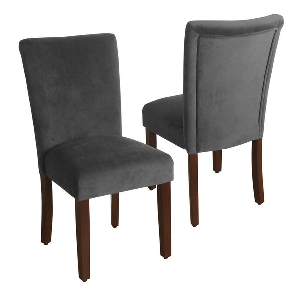 Shop HomePop Velvet Parson Dining Chair (Set Of 2)