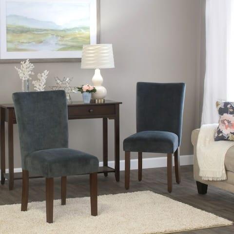 HomePop Velvet Parson Dining Chair (Set of 2)