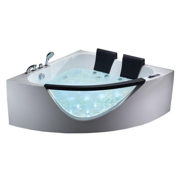 Shop EAGO AM199HO 5-foot Double Seat Corner Whirlpool Bath Tub with ...