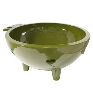 ALFI Brand Olive Green Fiberglass Round Portable Outdoor Hot Tub