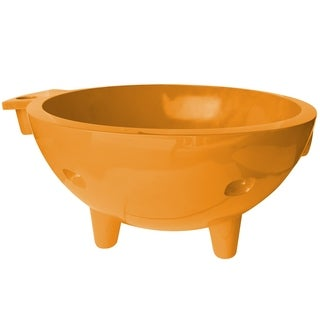 ALFI Brand Orange Fiberglass Round Portable Outdoor Hot Tub