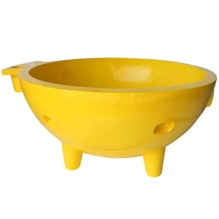 ALFI Brand Yellow Fiberglass Round Portable Outdoor Hot Tub