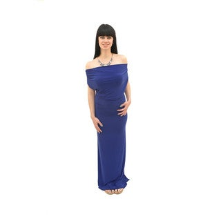 Hadari Women's Multiway 3/4 Sleeves Maxi Dress