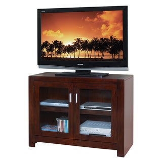 Camus Brown Finish Wood Two-shelf TV Stand
