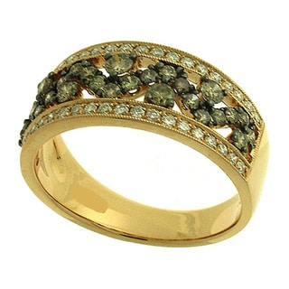 Azaro 14K Gold 7/8ct TDW Round Diamond Halfway Band (H, SI1-SI2)