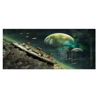 Designart 'Alien Planet' Digital Artwork Metal Wall Art
