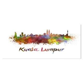 Designart 'Kuala Lumpur Skyline' Cityscape Metal Wall Art