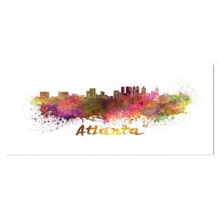 Designart 'Atlanta Skyline' Cityscape Metal Wall Art