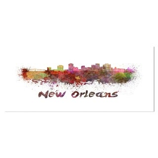 Designart 'New Orleans Skyline' Cityscape Metal Wall Art