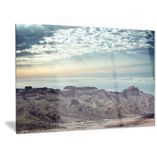 Designart 'Remote Mountains in Morning' Contemporary Metal Wall Art
