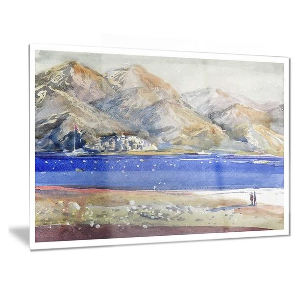Metal Wall Art Mountain Landscapes : Designart mountains and blue sea landscape metal wall