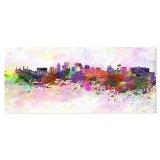 Designart 'Kansas City Skyline' Cityscape Metal Wall Art