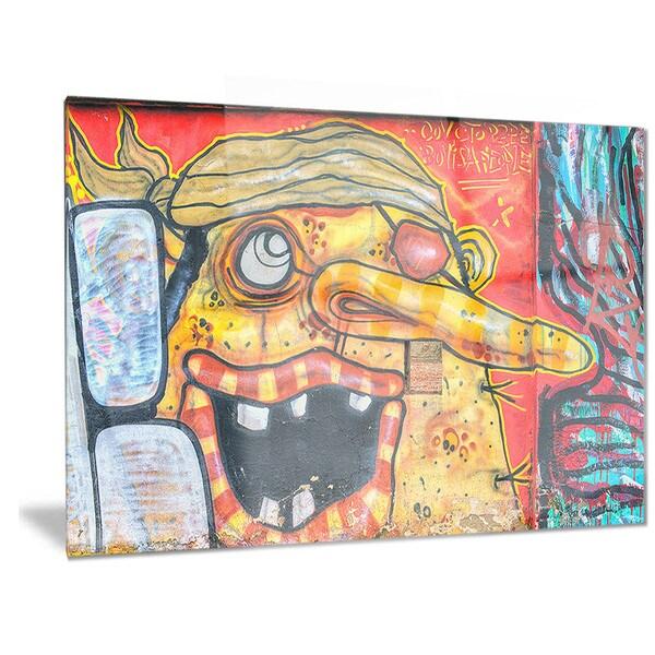 Shop Designart \'Funny Street Art\' Graffiti Metal Wall Art - On Sale ...