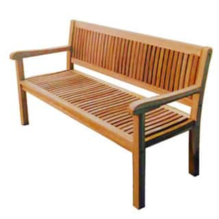 Excellent Kingsbury Natural Teak 60 Inch Bench Bralicious Painted Fabric Chair Ideas Braliciousco