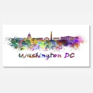 Designart 'Washington DC Skyline' Cityscape Metal Wall Art