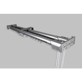 InStyleDesign Silver Heavy Duty Traverse Double Rod - Center Open