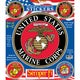 U.S. Marine Corps Patriotic Car Decals (Set of 6) - Thumbnail 0