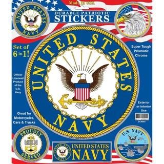 United States Navy 6-in-1 Patriotic Car Decals Set