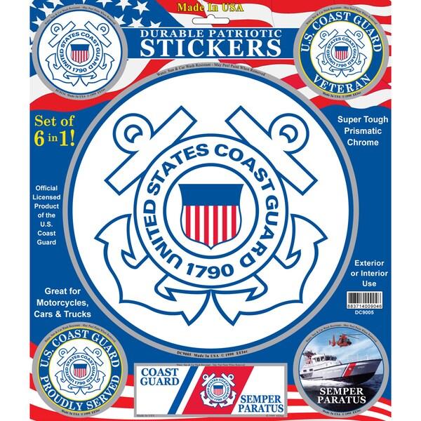 U.S. Coast Guard Patriotic Car Decals (Set of 6)