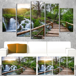 Pathway in Plitvice Lakes - Landscape Photography Canvas Print