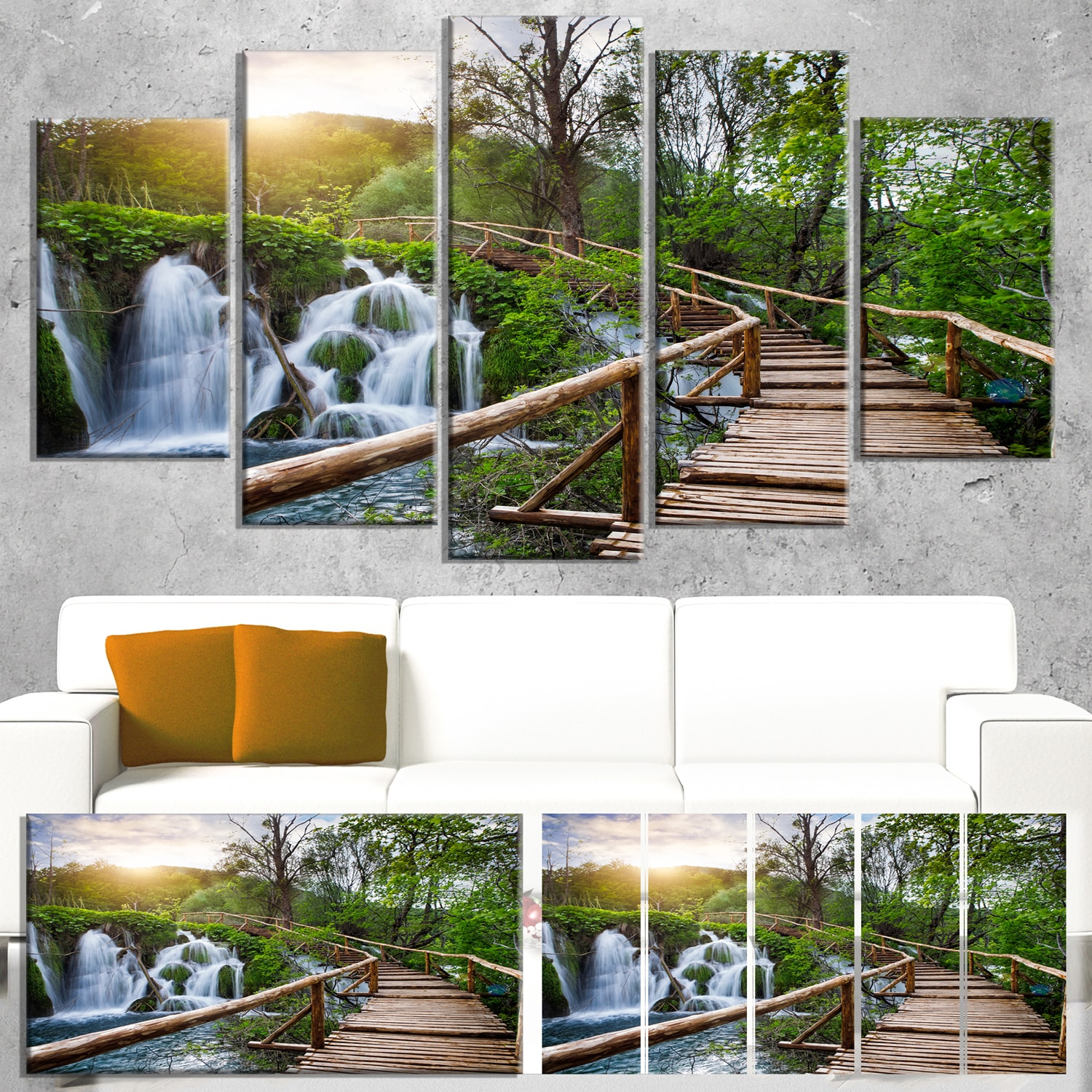Pathway In Plitvice Lakes Landscape Photography Canvas Print Green Overstock 12101578